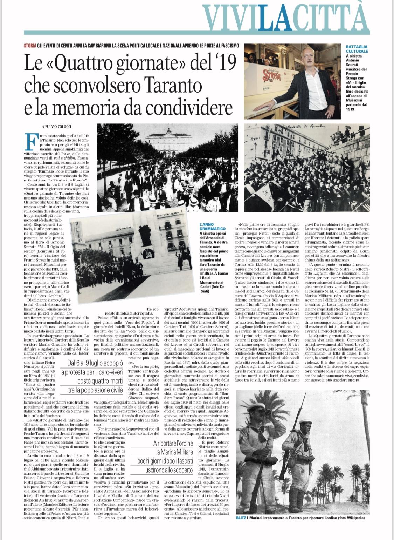 """Le """"Quattro giornate di Taranto"""""""
